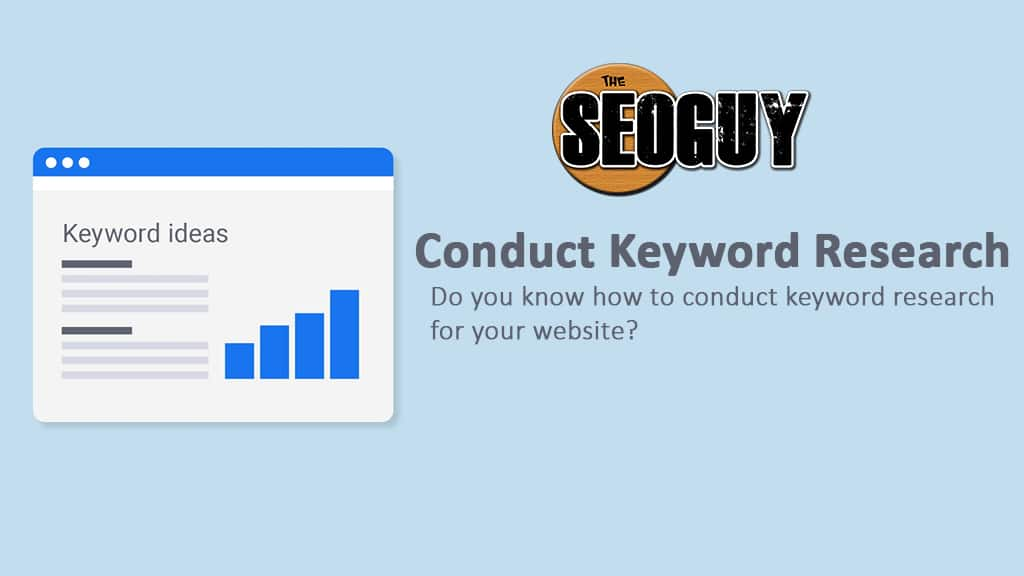 conduct keyword research using keyword planner tool