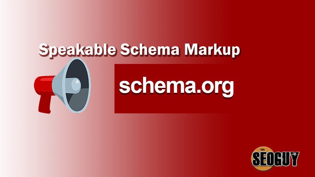 Speakable Schema Markup
