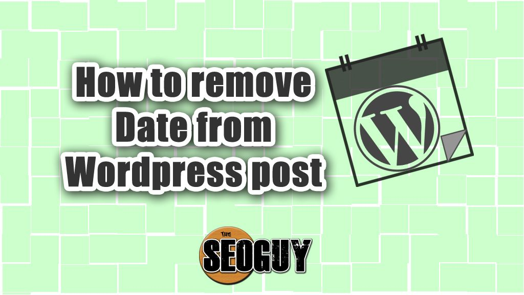 Post Info How to remove date from Wordpress post