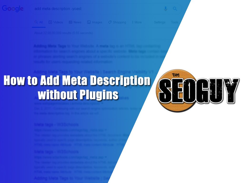 add meta description without plugins
