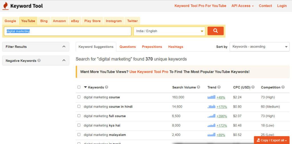 keyword tool youtube tags generator